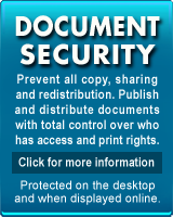 Copy protect PDF and documents